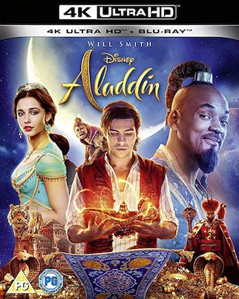 Aladdin is the Top Blu-ray DVD Sellers Chart Title