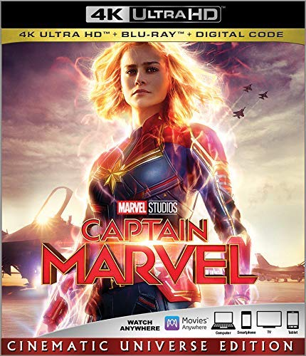 Captain Marvel is the Top Blu-ray DVD Sellers Chart Title