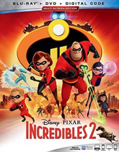 Incredibles 2 is the Top Blu-ray DVD Sellers Chart Title