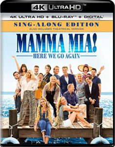 Mamma Mia! Here We Go Again is the Top Blu-ray DVD Sellers Chart Title