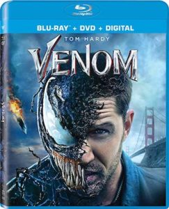 Venom is the Top Blu-ray DVD Sellers Chart Title