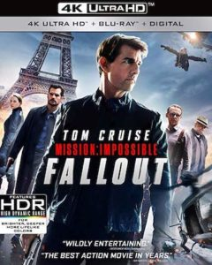 Mission: Impossible - Fallout is the Top Blu-ray DVD Sellers Chart Title