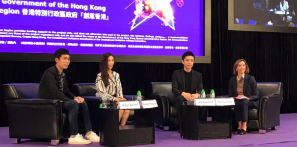Amy Jo Smith of DEG at HKTDC Hong Kong International Filmart