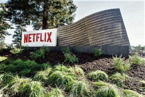 Netflix sign outside its Los Gatos, Calif. headquarters.