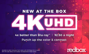 Redbox is testing 4K UHD Blu-ray discs in its kiosks.