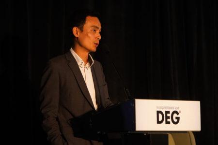 HKTDC's Chris Lo at DEG Fall Membership Meeting.