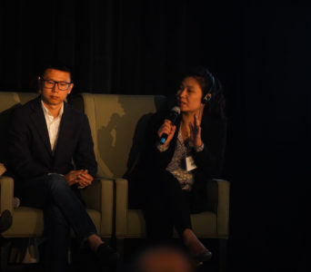 Kaichen Li and Maggie Miao at the DEG Fall Membership Meeting.