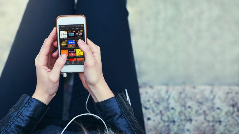 Plex media center app on a phone